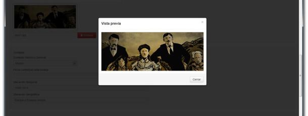 Se pueden añadir imágenes y acceder a su vista previa.