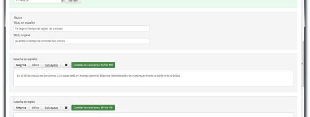 El desarrollo del contenido tiene un medidor de caracteres, esto te ayudará a mantener la estructura de la publicación.