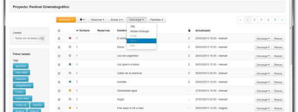 Por último, podrás descargar el trabajo en el formato que desees: epub, html, xml, con solo un click, habrás publicado.